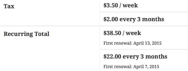 Aplicativos Assinaturas multiple subscription totals